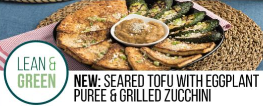 Recipe: Seared Tofu with Eggplant Puree and Grilled Zucchini